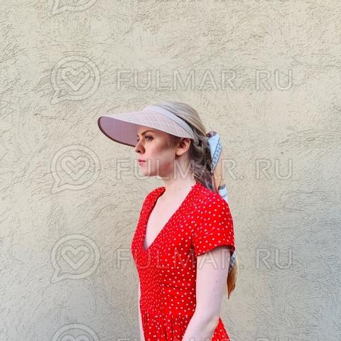 Широкий  козырек от солнца-ободок на голову (цвет: Бежевый)