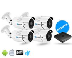 Комплект из 4-х Уличных камер Onviz U3450  (проводные) (Регистратор Onviz 8k)