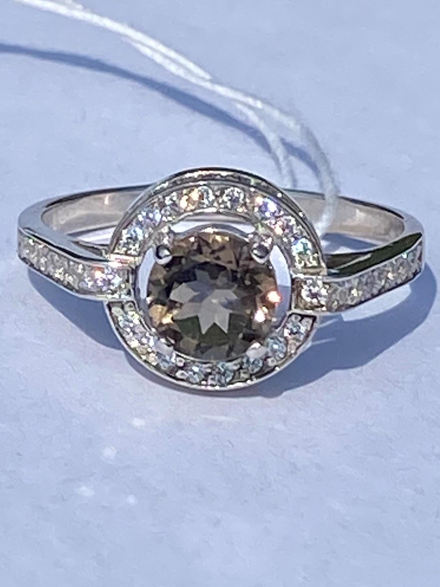 1100187-раухтопаз (кольцо из серебра)