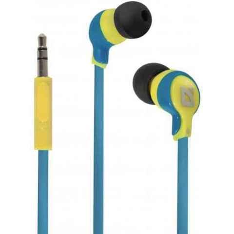 Наушники DEFENDER Juicy MPH-811 желтый и голубой