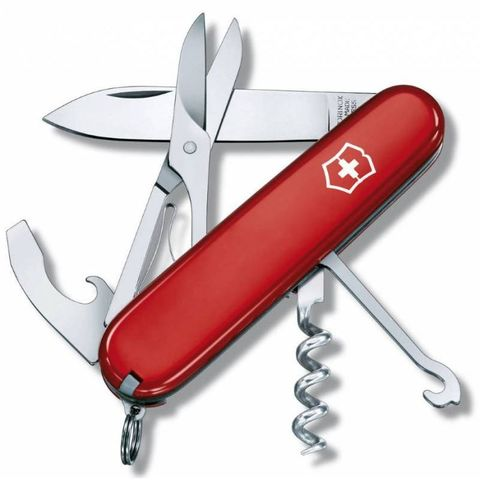 Нож перочинный Victorinox Compact (1.3405) 91мм 15функций красный