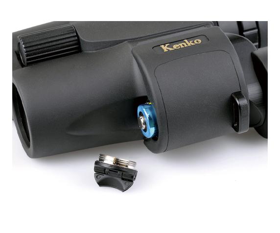 Бинокль KENKO VcSmart 10x30 со стабилизацией - фото 4 - отсек элемента питания