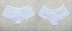 "Трусы ""жен. № 6""  Кружевные шорты Белые"