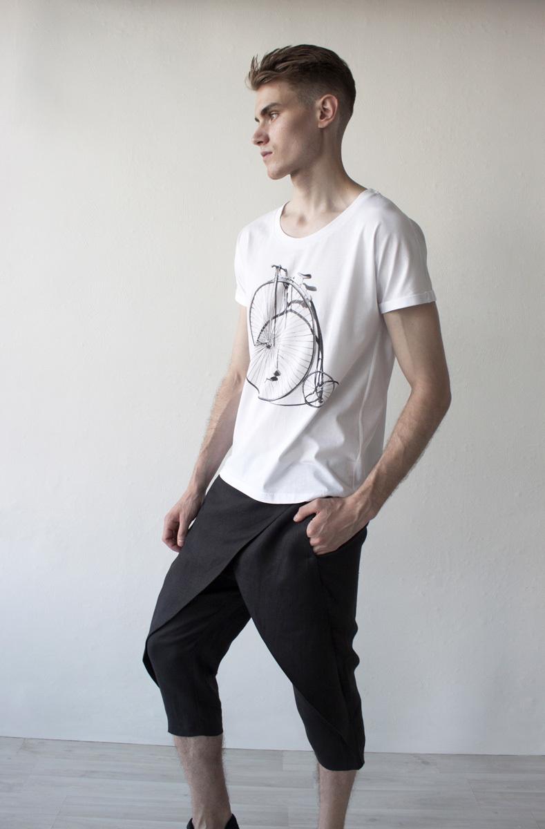Мужская футболка «Ретро-велосипед»