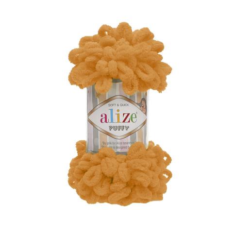 Купить Пряжа Alize Puffy Код цвета 336 Оранжевый | Интернет-магазин пряжи «Пряха»