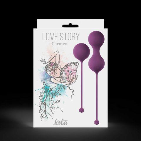 Набор фиолетовых вагинальных шариков Love Story Carmen