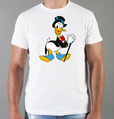 Футболка с принтом мультфильма Дональд Дак (Donald  Duck) белая 0012