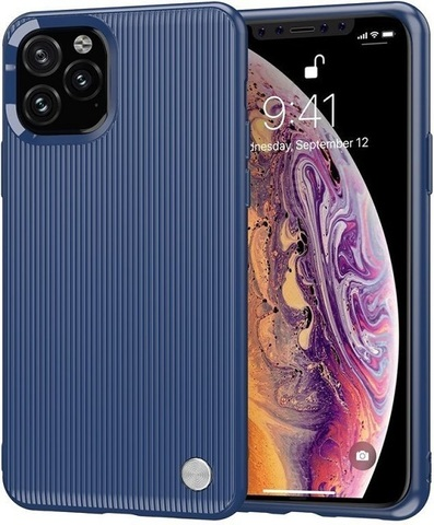 Чехол iPhone 11 Pro Max цвет Blue (синий), серия Bevel, Caseport