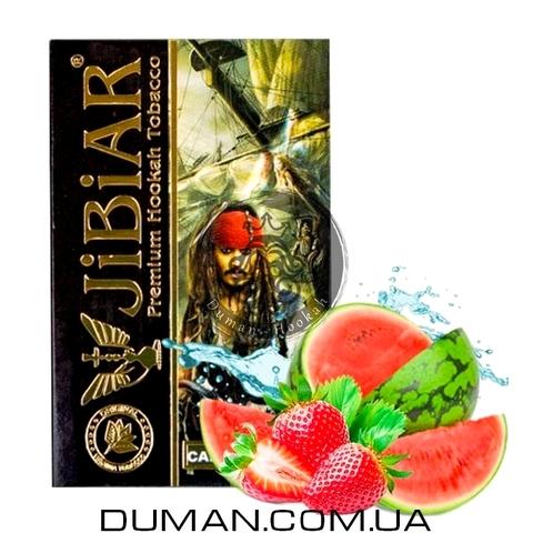 Табак JiBiAR Captain Pirates (Джибиар Капитан Пиратов - Арбуз Клубника) 50g