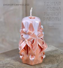 Резная свеча Нежность (бантики)