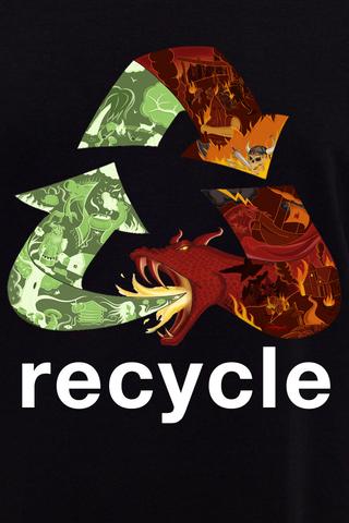 Футболка Long Black Recycle