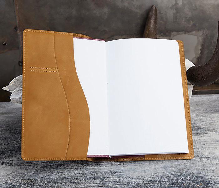 BY05-18-02 Кожаный ежедневник с изображением индианки, тиснение (А5) фото 05