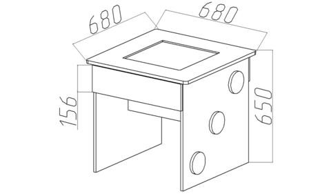 Стол с игровой площадкой
