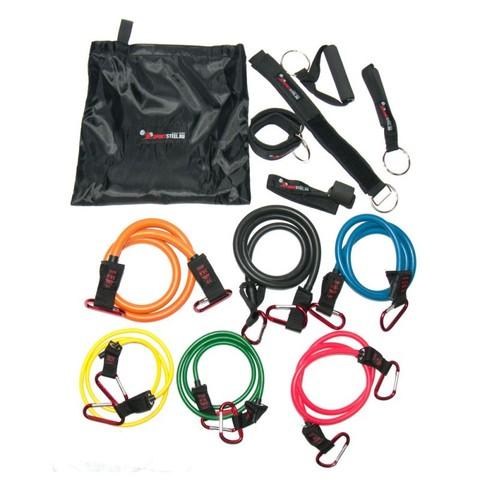 1213-17 Эспандер многофункц. Sportsteel Resistance band kit 6 жгутов