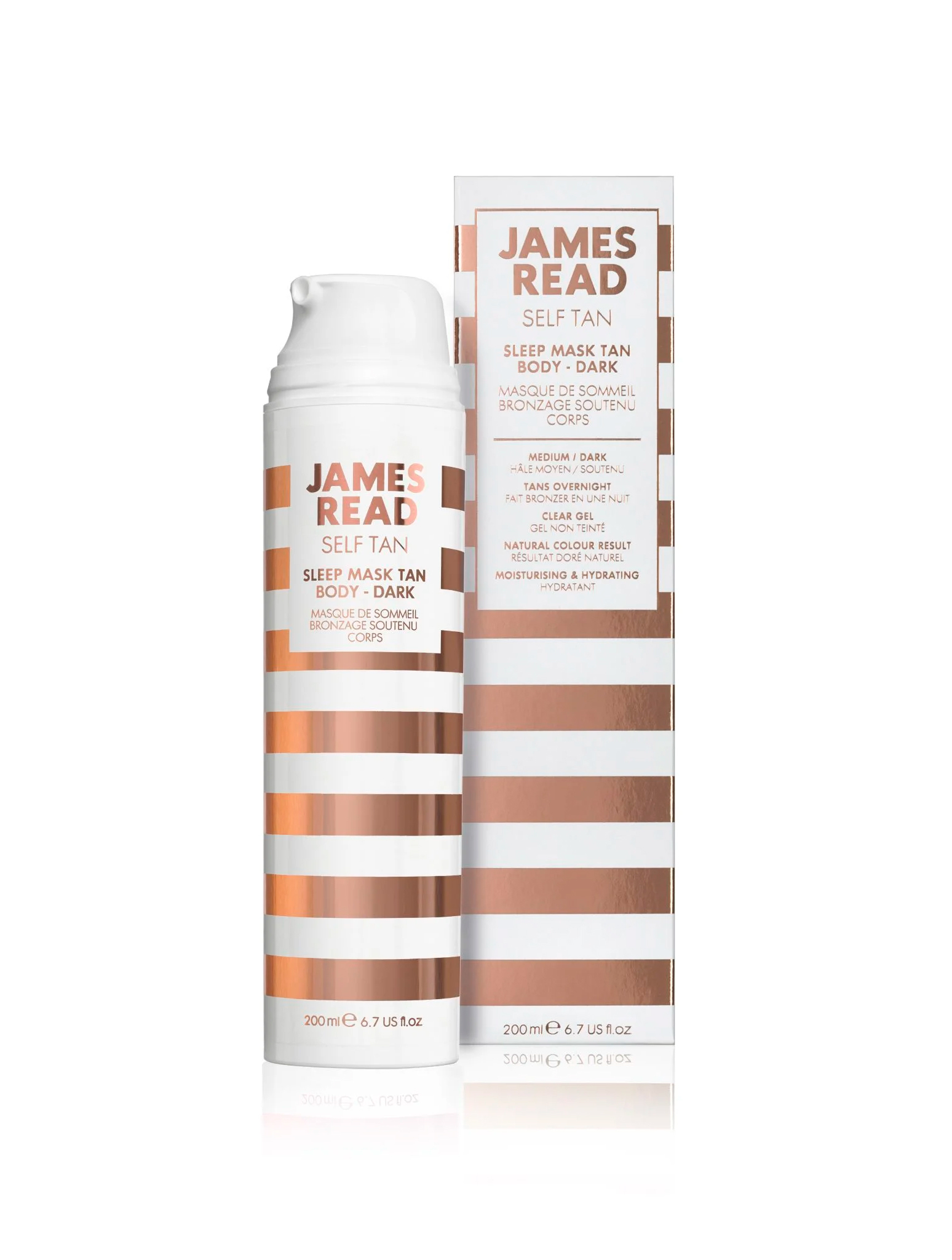 Маска ночная для тела уход и загар James Read Self Tan Sleep Mask Tan Body - Dark 200 мл