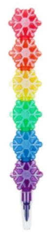 061-0203 Карандаш восковой «Снежинка» 5 цветов