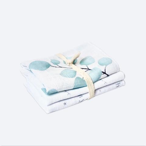 Сет из 3х муслиновых салфеток Mjölk Голубой эвкалипт