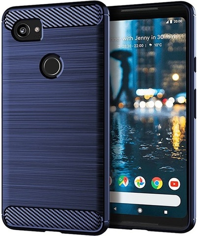 Чехол Google Pixel2 XL цвет Blue (синий), серия Carbon, Caseport