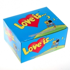 Блок жвачек Love is — Банан-Клубника 100 шт.