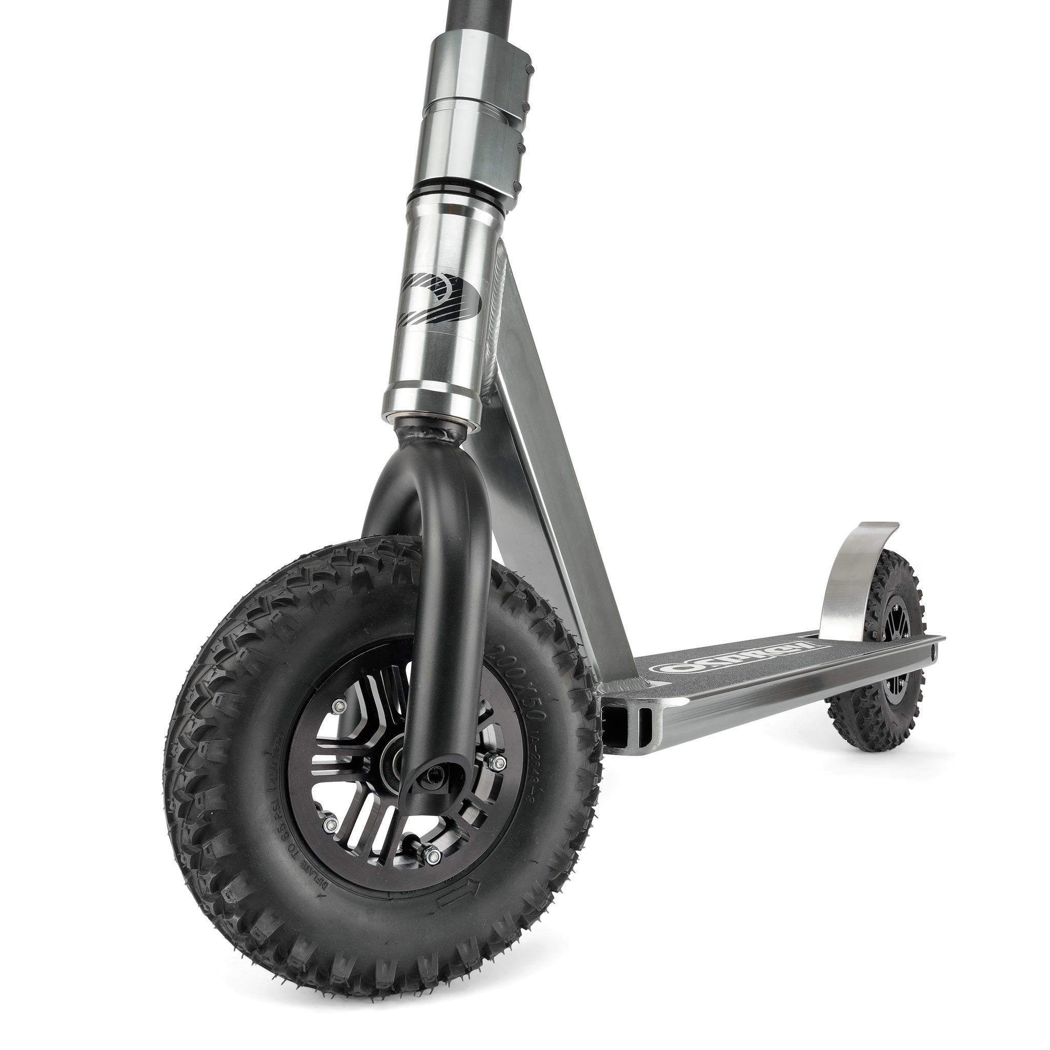 Самокат Внедорожник Osprey. Надувные колеса. Графит
