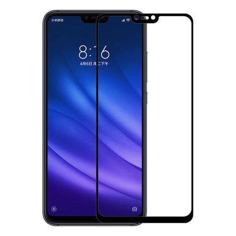 Стекло защитное 2D для Xiaomi Mi 9 (Черное)