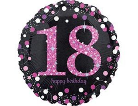 Фольгированный шар HB Sparkling 18 розовый