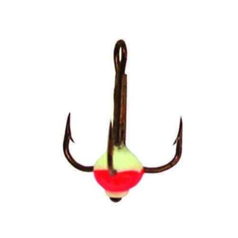 Крючок-тройник с каплей Lucky John, размер №8, цвет 02