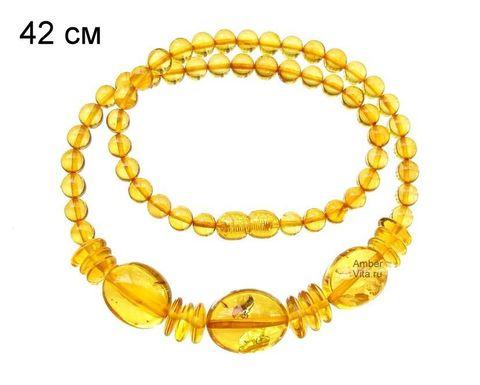 чокер из янтаря_жёлтый прозрачный янтарь_фото