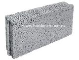 Блок керамзитовый перегородочный полнотелый
