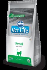 Ветеринарный корм для кошек, FARMINA Vet Life RENAL, при почечной или сердечной недостаточности