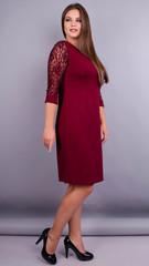 Ля Руж. Шикарное платье плюс сайз. Бордо.