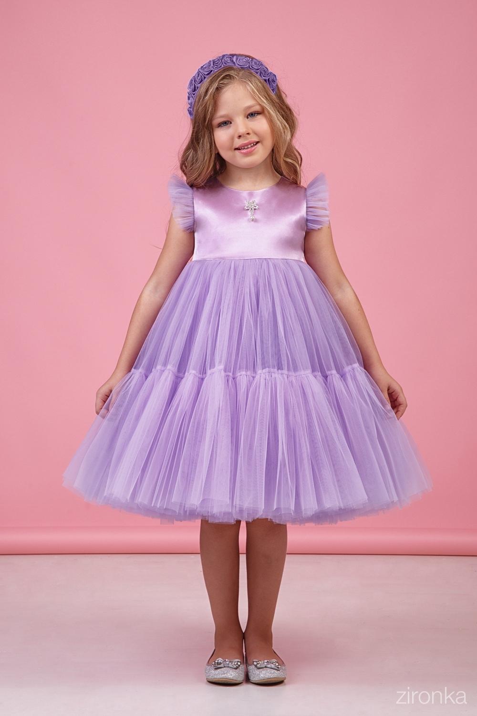 Платье сиреневое для девочки 38-9002-2