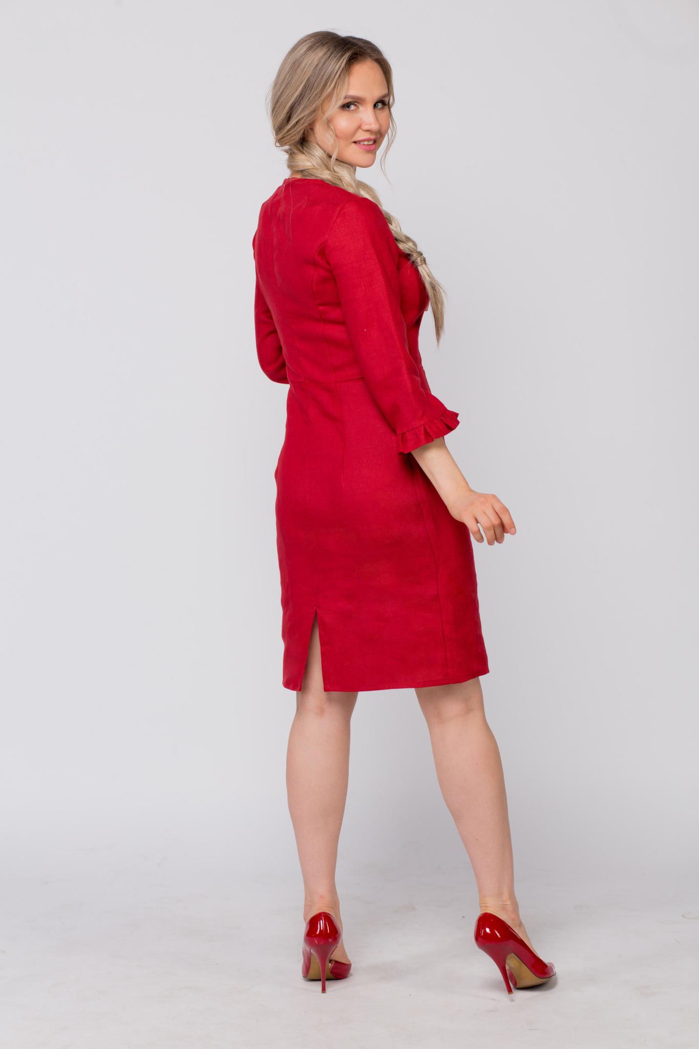 Платье льняное Свидание вид сзади