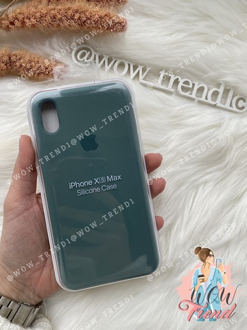 Чехол iPhone XS Max Silicone Case /pine green/ сосновый лес 1:1