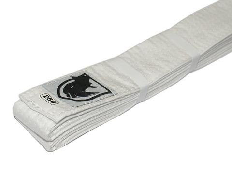 Пояс RHINO для кимоно карате. Цвет белый. Длина 2,80 м. Материал:  хлопок.