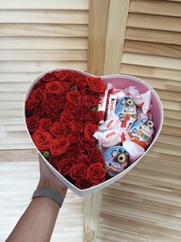 Розы и Kinder сладости #139