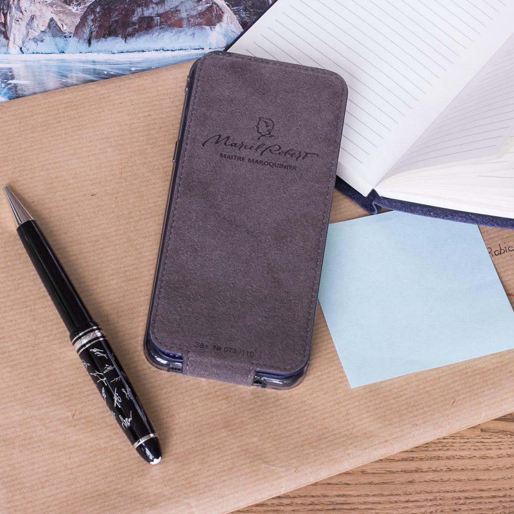 Чехол для Samsung Galaxy S9 из натуральной кожи теленка, цвета индиго