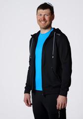 Толстовка с капюшоном мужская Nordski Base Zip Hood Black
