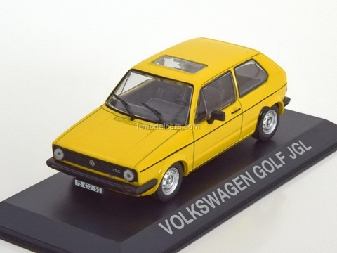 VW Golf JGL Volkswagen yellow 1:43 DeAgostini Masini de legenda #51