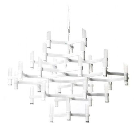 Подвесной светильник копия Crown Major by Nemo (белый, 30 плафонов)