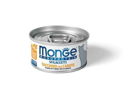 купить Monge Cat Monoprotein Turkey with Carrots хлопья (волокна) для кошек из индейки с морковью 80г