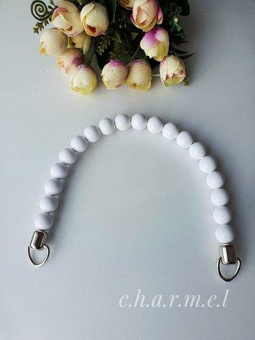 Handle for bag metal+plastic, color White