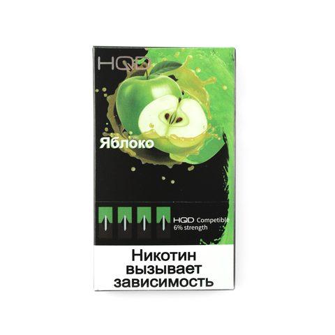 Сменный Картридж HQD совместимый с JUUL - Яблоко х4, 60 мг