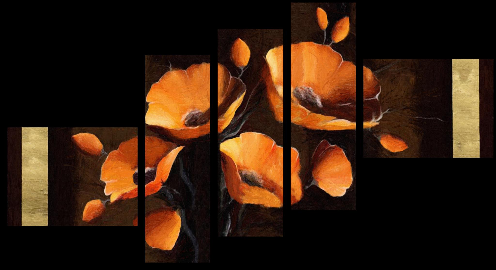 """Цветы Модульная картина """"Взрывные маки"""" М477.png"""