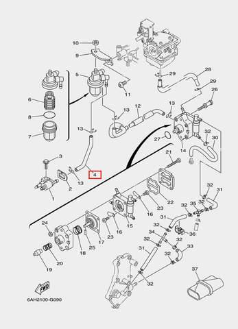Шланг для лодочного мотора F20 Sea-PRO (9-4)
