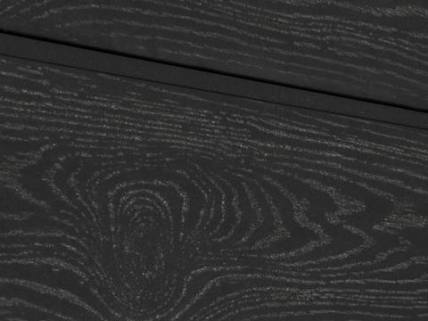 Cайдинг  из ДПК. Тангенциальный распил. Цвет черный.