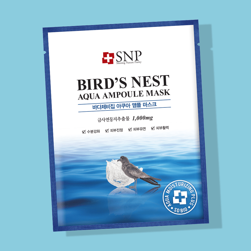 Тканевая маска SNP Bird's Nest Aqua Ampoule Mask