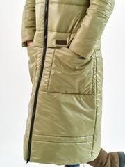 Пальто еврозима Макси оливка