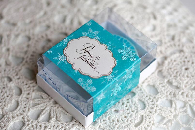 Этиклейка на упаковку для мыла Изумрудный снег