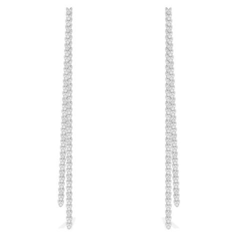 Серьги длинные из серебра в  стиле APM MONACO
